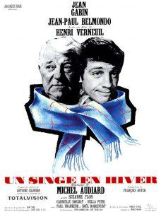 """Affiche du film français """"Un singe en hiver"""" de Henri Verneuil (1962)"""