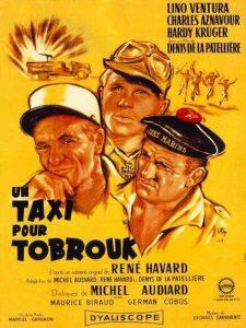 """Affiche du film français """"Un taxi pour Tobrouk"""" de Denys de la Patellière (1961)"""