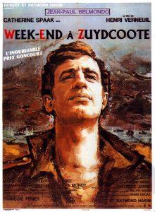 """Affiche du film français """"Week-end à Zuydcoote"""" de Henri Verneuil (1964)"""