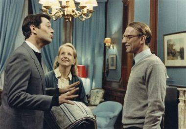 """""""C'est lundi, c'est raviolis !"""" Le père Aubergé et les époux Le Quesnois, dans """"la vie est un long fleuve tranquille"""", le film d'Étienne Chatiliez (1988)"""