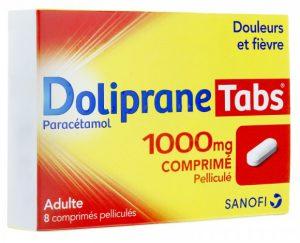 Doliprane Tabs 1000 mg des Laboratoires Boiron-Dolisos du groupe Sanofi