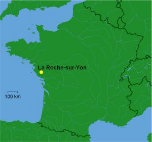Localisation géographique de la ville de La-Roche-sur-Yon (85)