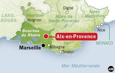 Localisation de la ville française d'Aix-en-Provence (13)