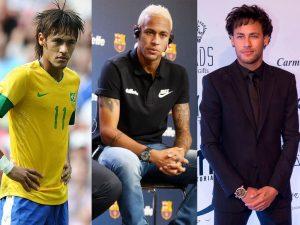 Les extravagances capillaires du joueur de football brésilien Neymar