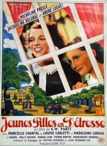 """Affiche du film français """"Jeunes filles en détresse"""" de Georg Wilhelm Pabst (1939)"""