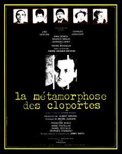 """Affiche du film français """"la métamorphose des cloportes"""" de Pierre Granier-Deferre (1965)"""