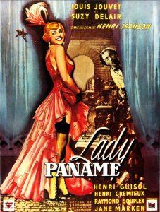 """Affiche du film français """"Lady Paname"""" de Henri Jeanson (1950)"""