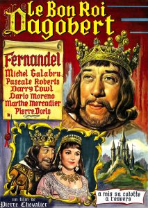 """Affiche du film français """"Le bon roi Dagobert"""" de Pierre Chevalier (1963)"""