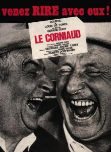 """Affiche du film français """"Le corniaud"""" de Gérard Oury (1965)"""