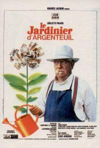 """Affiche du film français """"Le jardinier d'Argenteuil"""" de Jean-Paul Le Chanois (1966)"""