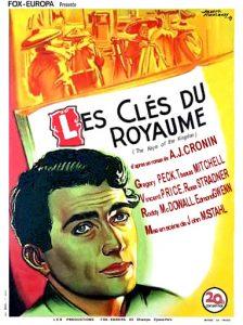 """Affiche du film du film """"Les clés du royaume"""" de John M. Stahl (1941) d'après le roman de A.J. Cronin"""