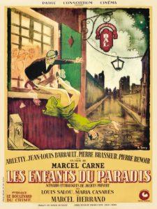 """Affiche du film français """"Les enfants du paradis"""" de Marcel Carné (1946)"""