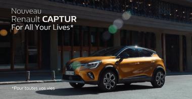 Affiche publicitaire française de mars 2019 pour le nouveau Renault CAPTUR