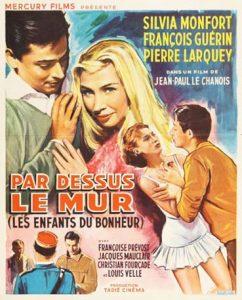"""Affiche du film français """"Par-dessus le mur"""" de Jean-Paul Le Chanois (1961)"""
