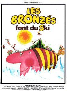 """Affiche du film français """"Les bronzés font du ski"""" de Patrice Leconte (1979)"""