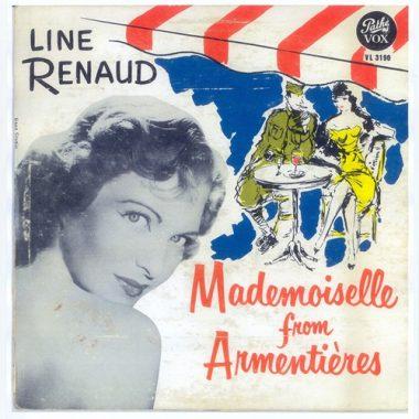 """Disque de Line Renaud de 1952 """"Mademoiselle from Armentières"""""""