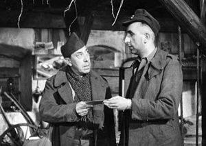 """Fernandel et Bernard Musson, dans """"La vache et le prisonnier"""" de Henri Verneuil (1959)"""