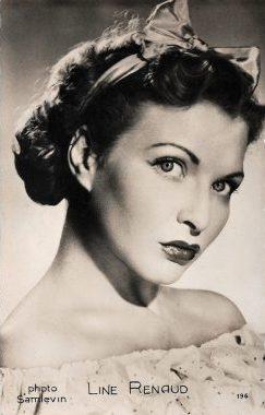 La chanteuse française Line Renaud