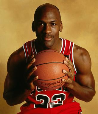 Le joueur de basket-ball états-unien Michael Jordan