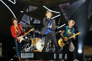 Mick Jagger et les Rolling Stones en concert à Auckland (Nouvelle-Zélande), le 22 novembre 2014