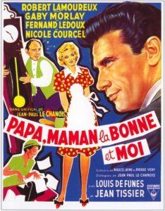"""Affiche du film français """"Papa, maman, la bonne et moi"""" de Jean-Paul Le Chanois (1954)"""