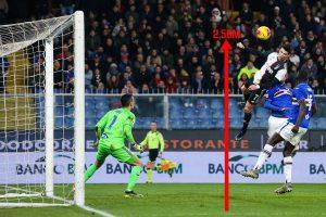 Le fantastique but marqué de la tête par Cristiano Ronaldo, le 18 décembre 2019, face à la Sampdoria de Gênes