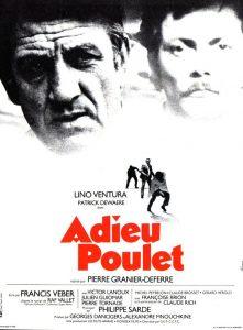 """Affiche du film français """"Adieu poulet !"""" de Pierre Granier-Deferre (1975)"""