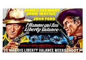 """Affiche du film états-unien """"L'homme qui tua Liberty Valance"""" de John Ford (1962)"""