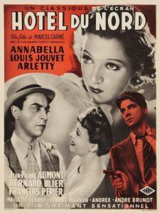 """Affiche du film français """"Hôtel du Nord"""" de Marcel Carné (1938)"""