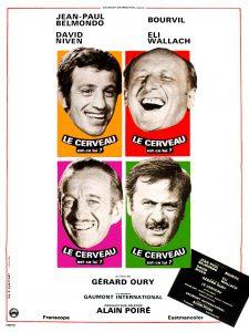 """Affiche du film français """"Le cerveau"""" de Gérard Oury (1968)"""