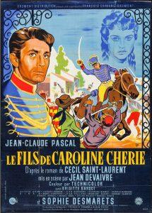 """Affiche du film français """"Le fils de Caroline chérie"""" de Jean Devaivre (1954)"""