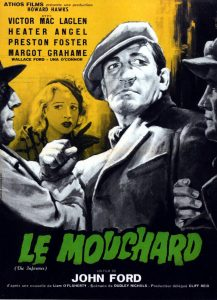 """Affiche du film états-unien """"Le mouchard"""" de John Ford (1936)"""