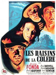 """Affiche du film états-unien """"Les raisins de la colère"""" de John Ford (1941)"""