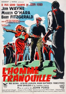 """Affiche du film états-unien """"L'homme tranquille"""" de John Ford (1953)"""