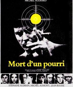 """Affiche du film français """"Mort d'un pourri"""" de Georges Lautner (1977)"""