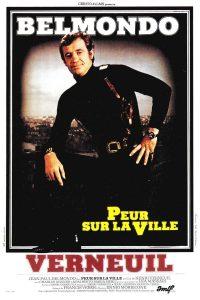 """Affiche du film français """"Peur sur la ville"""" de Henri Verneuil (1975)"""