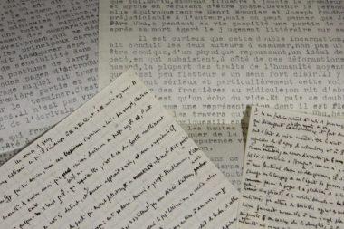 Manuscrits et tapuscrits divers