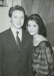L'actrice française Marie-José Nat et son premier mari, l'acteur français Roger Dumas