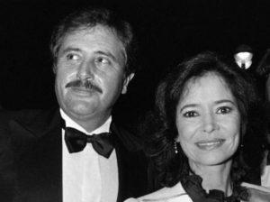 L'actrice française Marie-José Nat et son compagnon, l'acteur français Victor Lanoux