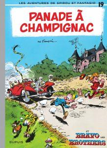 """Dix-neuvième album de la série belge Spirou et Fantasio """"Panade à Champignac"""" par André Franquin et Jidéhem, sur un scénario de Gos et Peyo (1969)"""