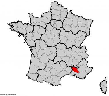 Localisation du département du Vaucluse (84)