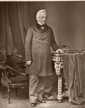 L'homme politique français Adolphe Thiers (15 avril 1797-3 septembre 1877)