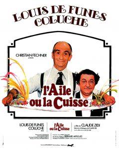 """Affiche du film français """"L'aile ou la cuisse"""" de Claude Zidi (1976)"""