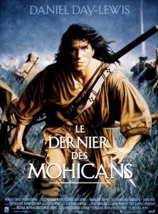 """Affiche du film états-unien """"Le dernier des Mohicans"""" de Michael Mann (1992)"""