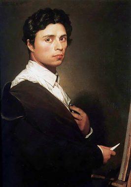Autoportrait de Jean-Auguste-Dominique Ingres à 24 ans (1804)
