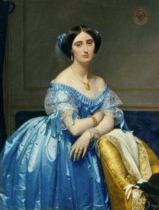 Éléonore-Marie-Pauline de Galard de Brassac de Béarn (1825–1860), princesse de Broglie, peinte par Jean-Auguste-Dominique Ingres (1851-1853)