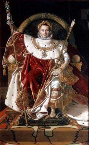 Napoléon 1er sur le trône impérial par Jean-Auguste-Dominique Ingres (1806)