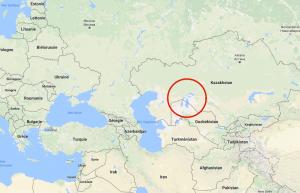 La mer d'Aral, entre Kazakhstan et Ouzbékistan