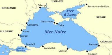 La mer d'Azov, entre Ukraine et Russie