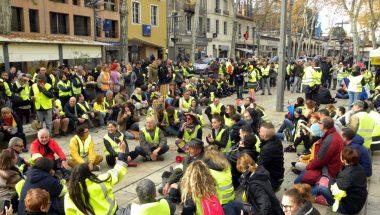 Sit-in de gilets jaunes